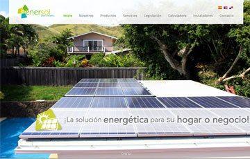 diseño de página web del grupo enersol